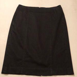 Ann Taylor LOFT Black stitched pencil skirt.Size 2
